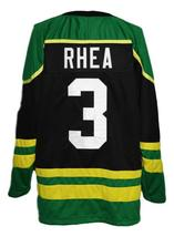 Any Name Number St John's Shamrocks Retro Hockey Jersey Black Rhea #3 Any Size image 2