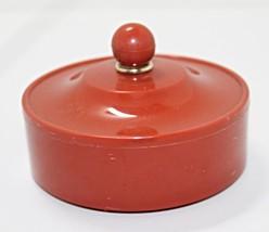 Vintage Retro Plastic Powder Box Trinket Box - $6.00