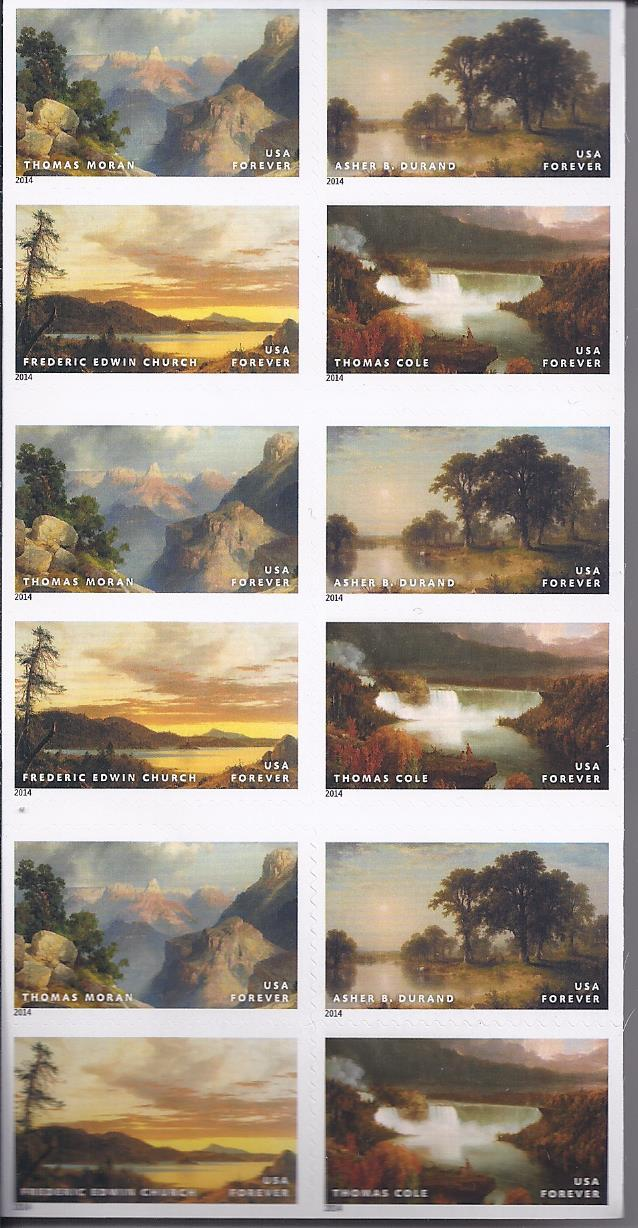 AMERICAN TREASURES Hudson River School 12th in Series  (USPS)  FOREVER STAMPS 20