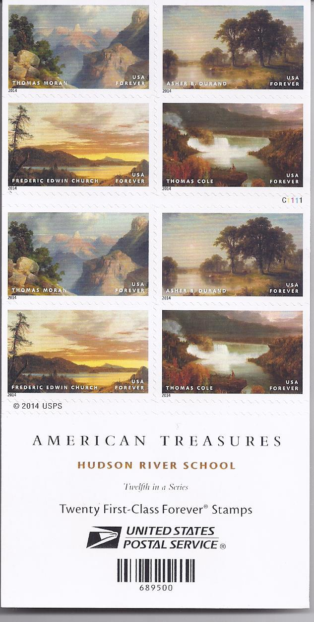 AMERICAN TREASURES Hudson River School 12th in Series  (USPS)  FOREVER STAMPS 20 image 2