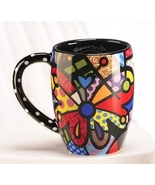 Romero Britto Dolomite Round Butterfly Mug 12 oz Gift Box Giftcraft #3309047 NEW - $23.01