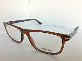 New Tom Ford TF 5356 55mm Transparent Brown Eyeglasses Frame Italy - $149.99
