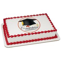 Grad Cap Edible Cake Topper Image - $9.99+