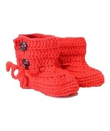 Buy Home Handmade Infant Baby Toddlers Crochet Booties Newborn Stitch Boots C... - $17.99