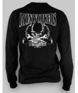 Union Ironworkers LONG SLEEVE T shirt black Small medium large  skull wr... - $30.37+