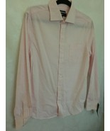 Mossimo Men's Size Small Long Sleeve Slim Fit Classic Shirt  Pink  - $8.85
