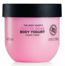 The Body Shop British Rose Body Yogurt 48hr Moisturizer 100% Vegan 6.98 ... - $15.54