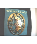 Wild Bryde Cat & Irises with Reflection Pin  - $30.40