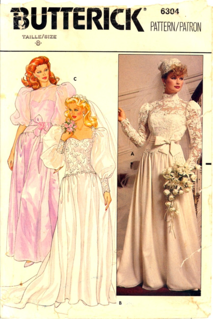 1980s size 8 wedding gown chapel train bridesmaid dress for How to ship a wedding dress usps