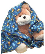 Lion Gator Flannel Toddler Baby Boy Blanket, ha... - $12.95