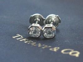 Tiffany & Co Platinum Lucida Diamond Bezel Set Stud Earrings 1.02Ct F-VVS2 - $9,355.50
