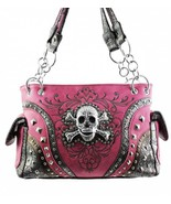 Pink Skull Studded Conceal and Carry Purse [Apparel] - $69.29