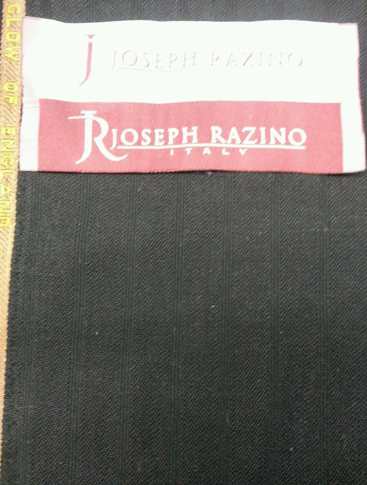 4.5 Yard Super 120s Black Worsted wool Suit Fabric By Fairglow msrp 695