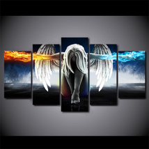 5 Pcs Angel With Wings Home Decor Wall Picture Printed Canvas Painting - $45.99+
