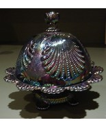 Carnival Glass Beaded Shell Covered Butter Dish... - $75.00