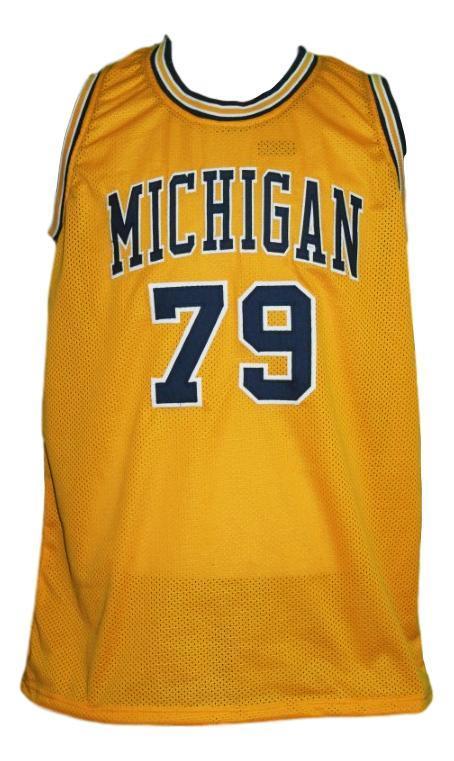 Aaliyah  79 custom college basketball jersey yellow   2