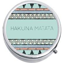 Tribal Hakuna Matata Medicine Vitamin Compact Pill Box - $9.78