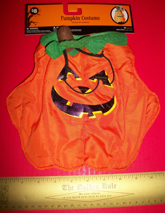Primary image for Pet Holiday Dog Costume XS Smiling Pumpkin Halloween Outfit Hat Canine Animal