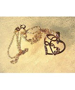 Sterling Silver Heart LOVE Necklace 2.0 grams - $20.00