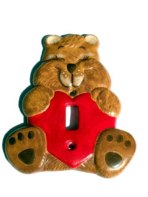"""TEDDY BEAR LOVE"" Wall Switch Plate - How Cute Is This?"