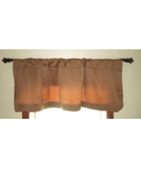 Cindy Crawford  Valance w/Pin pleat Border -Hudson Brown (Soft Brown) - ... - $14.00