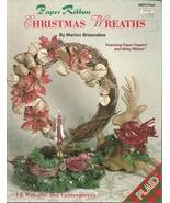 Paper Ribbon Christmas Wreaths Book  8875 Plaid Marion Brizendine - $9.98