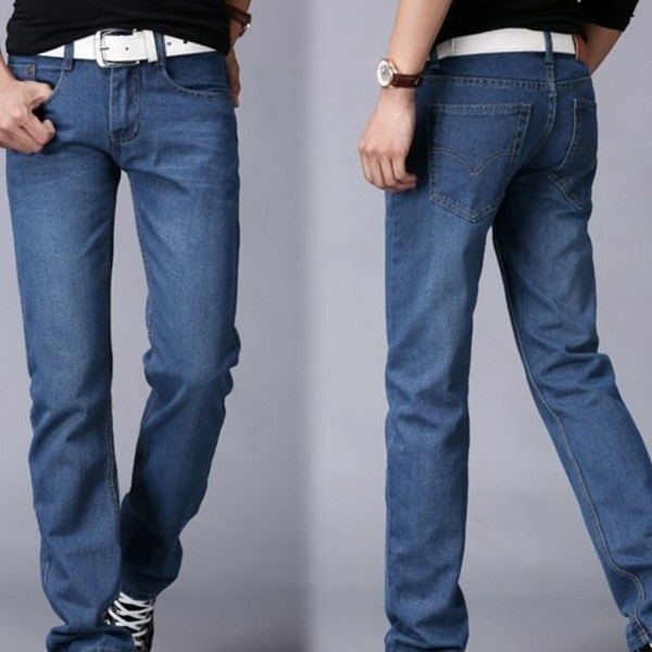 Men's fashion classic wash jeans image 4