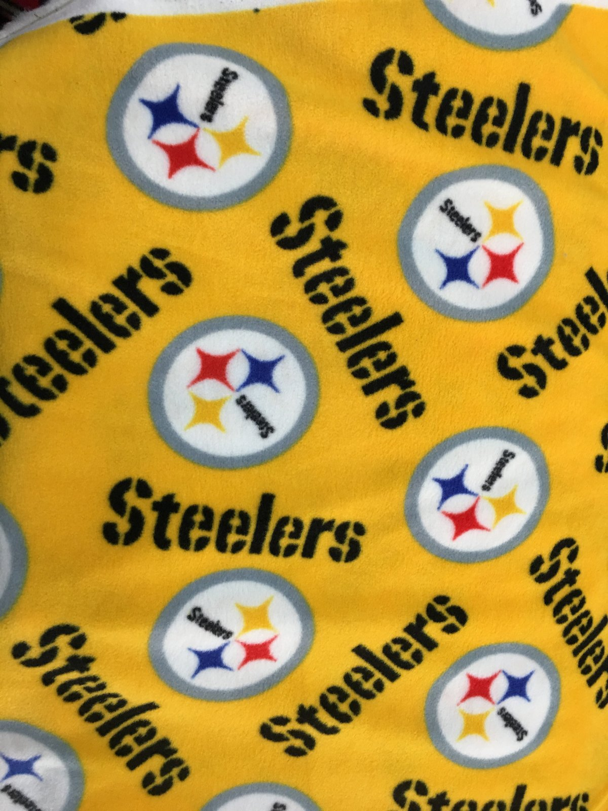 NFL Pittsburgh Steelers Toss By Fabric Traditions Fleece Printed Fabric - By Yar