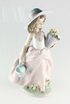"LLADRO ""A Wish Come True"" 7676 Girl with Flowers and Watering Can Retired - $257.51"