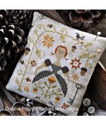 Autumn Keeper fall cross stitch chart Barbara Ana Designs - $10.00