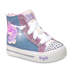 S Sport by Skechers Toddler Girls Pink Raelynn Light-Up Hi-Top Shoes Sneakers