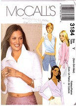UNCUT McCall's 3184 Misses' Tops - Sz Y (Xsm-Sm... - $9.99