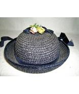 Vintage 1950's Child's Blue Cane/Velvet Easter ... - $22.00