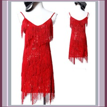 FLAPPER GIRL Fringed Tassel Sequined Mini Roaring 20's Costume in Five Colors image 2