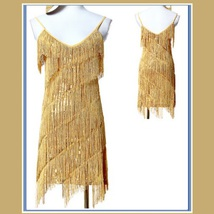 FLAPPER GIRL Fringed Tassel Sequined Mini Roaring 20's Costume in Five Colors image 3