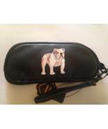 Bulldog Leather EyeGlass Case Sunglasses Bull Dog - $18.00
