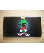 Marvin The Martian Black Leather Checkbook Cover Free Shipping Marvin - $21.00