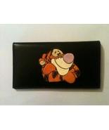 Tigger Black Leather Checkbook Cover Winnie the Pooh's Tigger - $20.00
