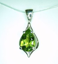 Large Fancy Pakistan Peridot / Sterling Silver Pendant from KT Elegant Jewelry - $109.95