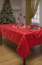 Luxurious Red Snowflake Damask Tablecloth - $65.99