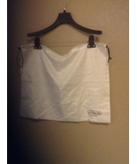 New Coach purse dust cover bag cream satin  19 1/2 x 15 - $7.99
