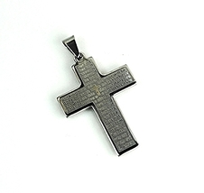 QC44 Fiori Energy Pendant Padre Nuestro with Energy Chips Cross - Plain - $22.95