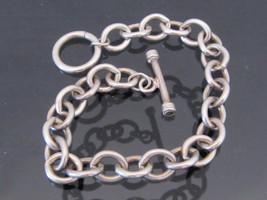 Vintage Sterling Silver Link Chain Bracelet 8'' Length  - $95.00
