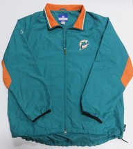 NFL REEBOK Full Zip Up MIAMI DOLPHINS Turquoise Jacket Adult Size X-Large - €42,00 EUR