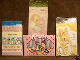 Baby Announcements Photo Album Baby Shower Invitations  Lot of 4 - $9.89