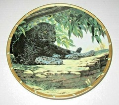 Lenox Collectors Plate Royal Cats 'Siesta' Leopard, Guy Coheleach EUC - $12.86