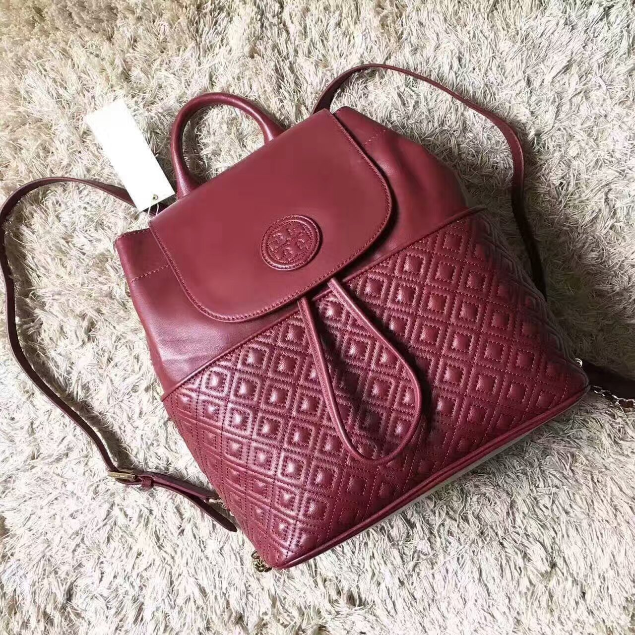 Tory Burch Marion Quilted Leather Backpack