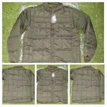 Mens Olive Bubble Jacket Black Long Sleeve Puffer Jacket Winter Jacket S-3X - $29.99