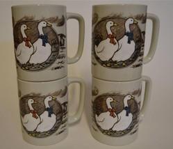 Vtg ~ Otagiri ~ Goose Geese ~ Coffee Cups Mugs ... - $49.95