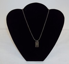 Necklace ~ Stainless Steel Pull-Style Ball Chain w/Polished G Pendant ~ #5410050 - $9.75